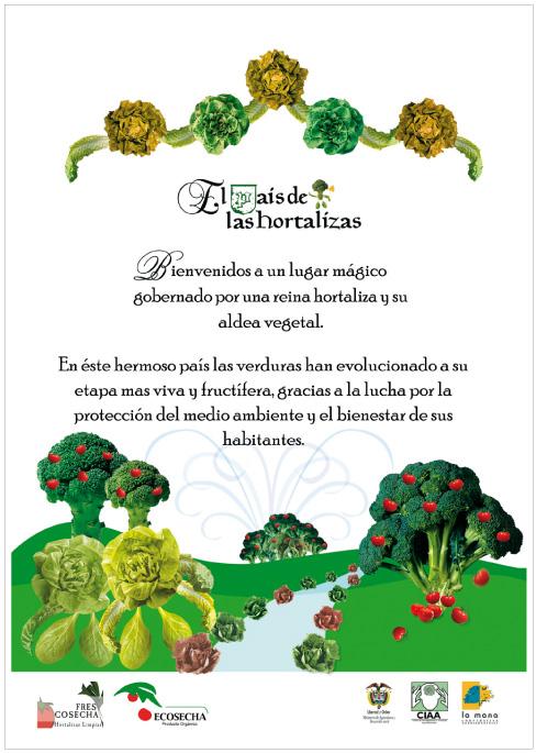 Afiche para empresa productora de vegetales