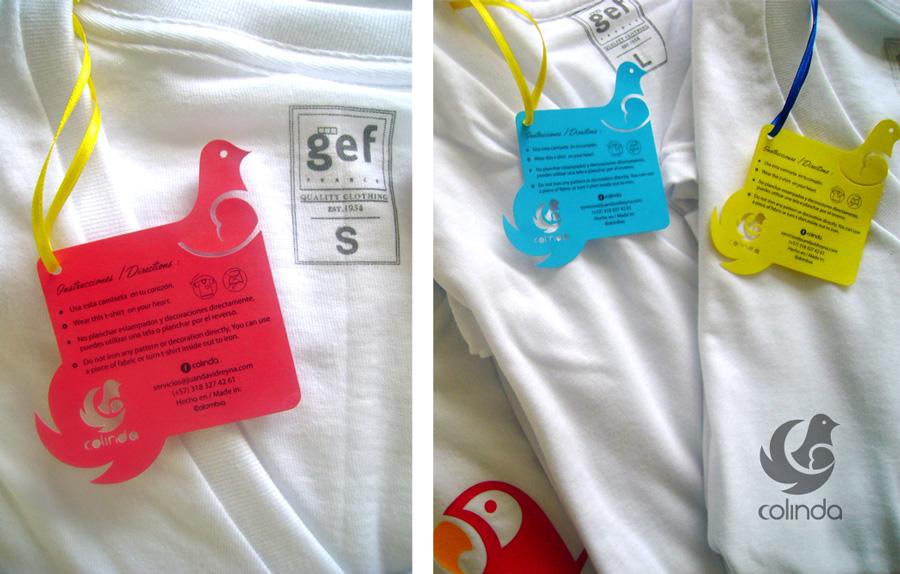 Diseño de etiquetas para camisetas turísticas