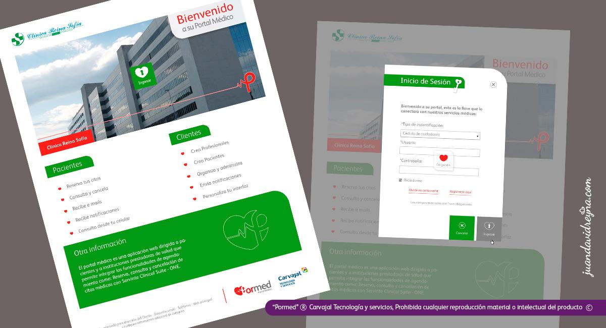 Ejemplo contraste de tonos rojos y verde; se busca la apropiación del producto en un determinado cliente a través de la identidad visual.