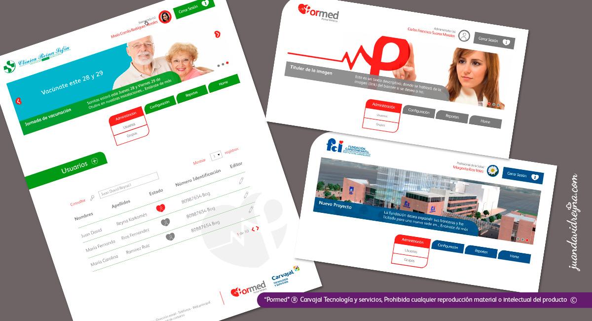 Diseño master page, modulo banner personalizable y grillas.