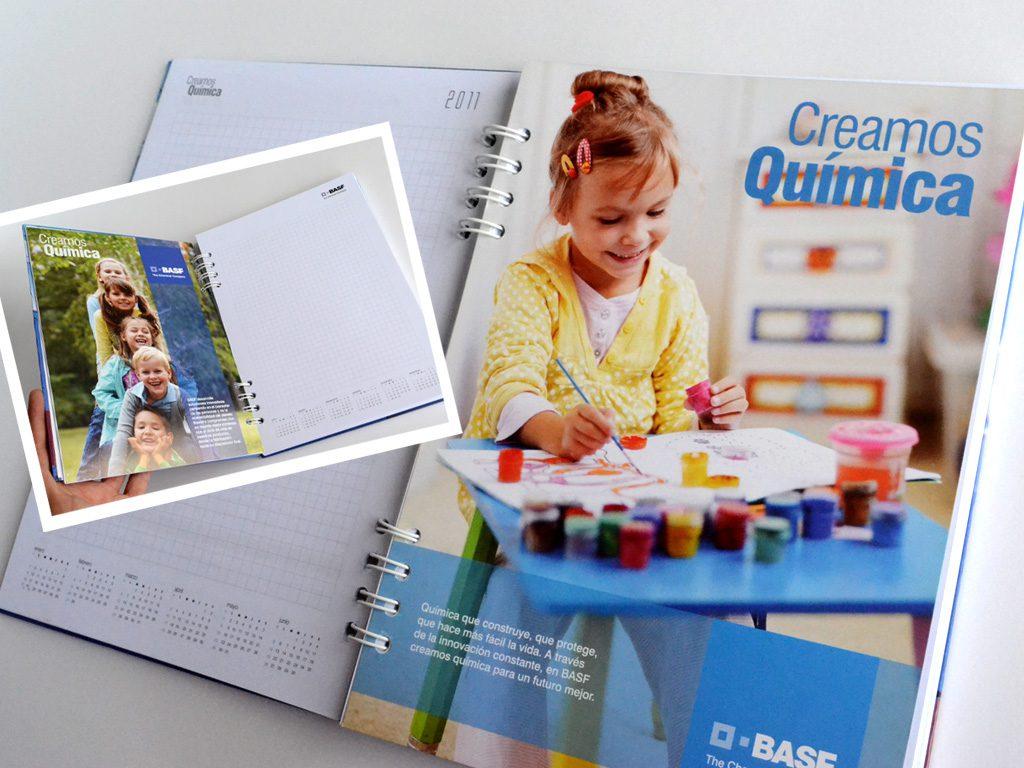 Diseño de separadores para cuaderno BASF QUÍMICA, CRÉDITOS: HASPEKTO