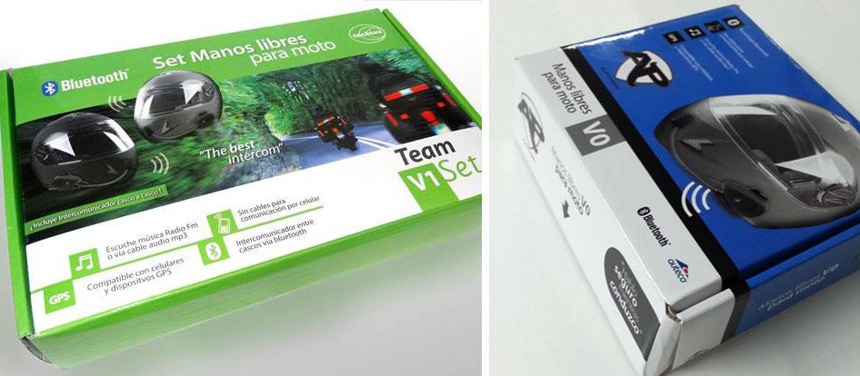 Diseño de empaques para manos libres moto, Auteco y Techtex