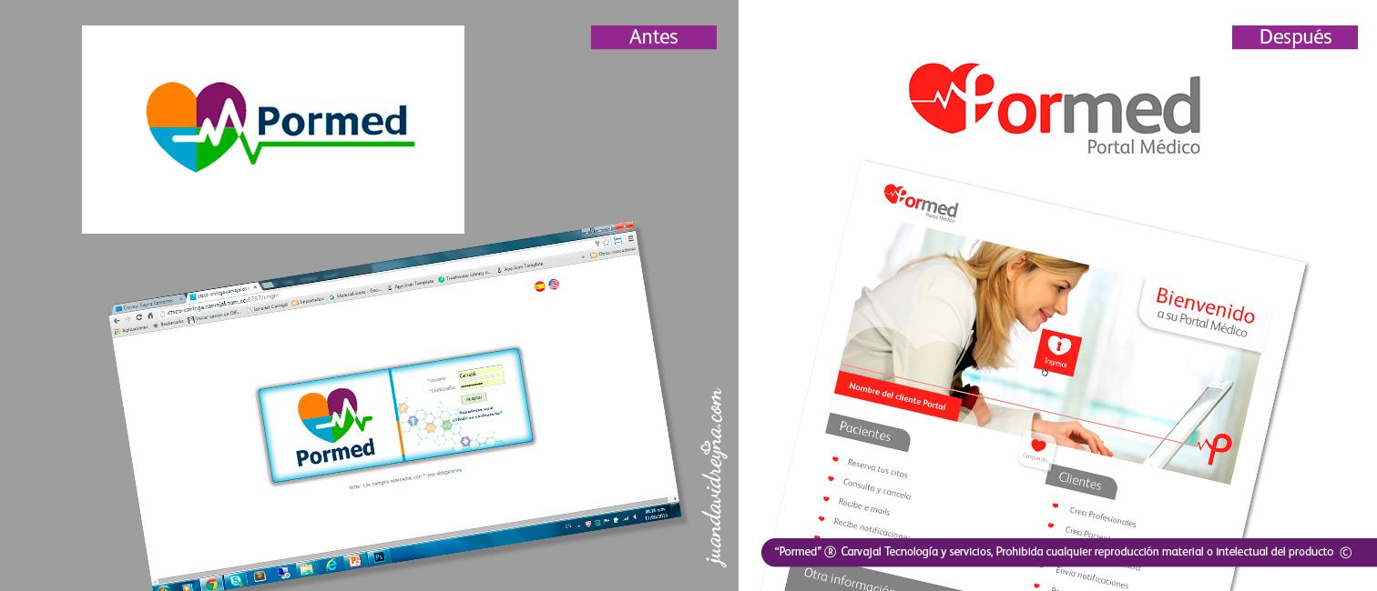 Antes y después rediseño de imagen del producto. Para ver proyecto en detalle, ir a sección Impresos-Web.