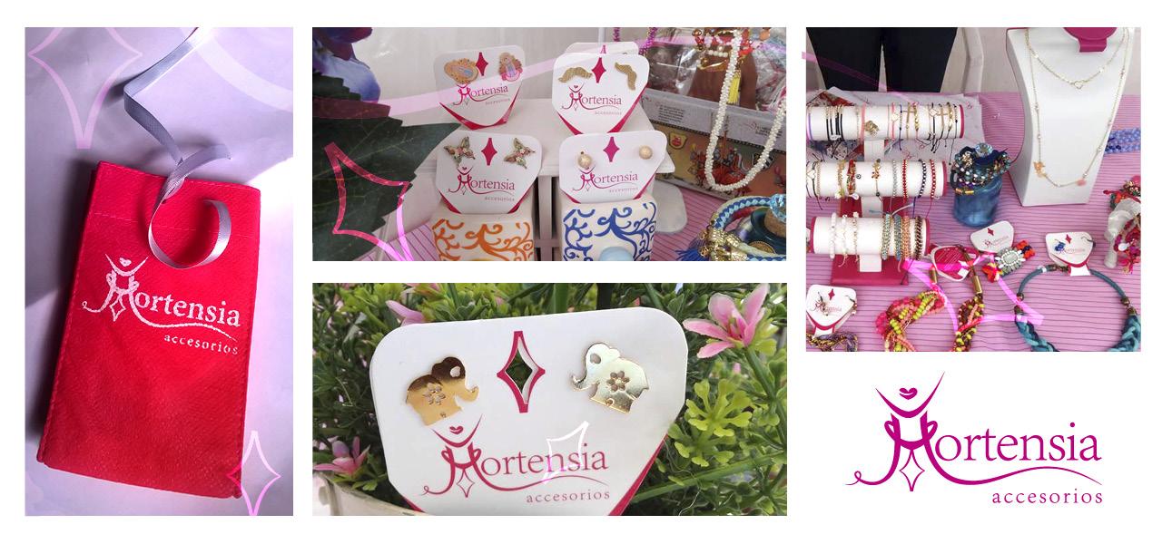 """facebook - Diseño de etiquetas """"Hortensia accesorios"""" - Mercado de Usaquén (Bogotá): """"Carpe Diem""""."""
