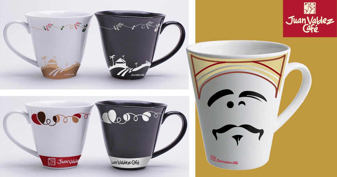 Propuesta de diseño de mugs bajo concepto del amor por el café, el campo y los caficultores colombianos