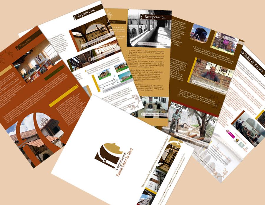 Brochure empresarial Corporación Santa Clara la Real, Tunja