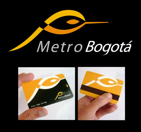 Logo proposal for Bogota's metro and cards