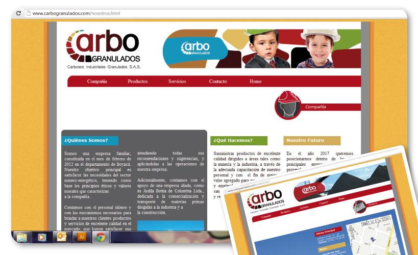 Diseño Logo y web www.carbogranulados.com